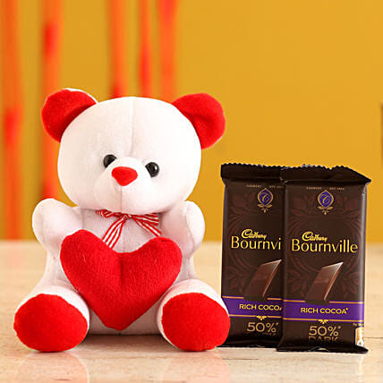 Teddy Bear & Valentines Chocolates for Her:Promise Day Soft Toys