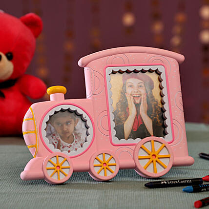Cute Train Pink Photo Frame