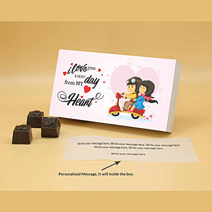 Online Cute Us Personalised Butterscotch Chocolates:Valentine Personalised Chocolates