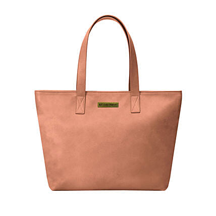 blush vegan leather fatty tote bag online