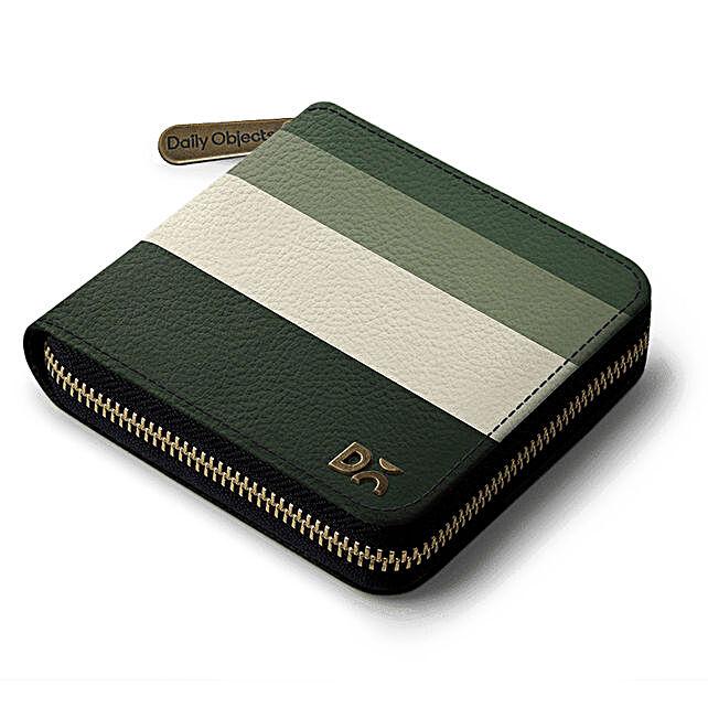 green quad zip wallet online