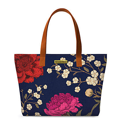 Online Midnight Chrysanthemums Fatty Tote Bag
