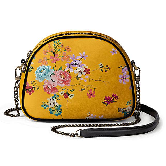 Online Mustard Floral- Arch Crossbody Bag