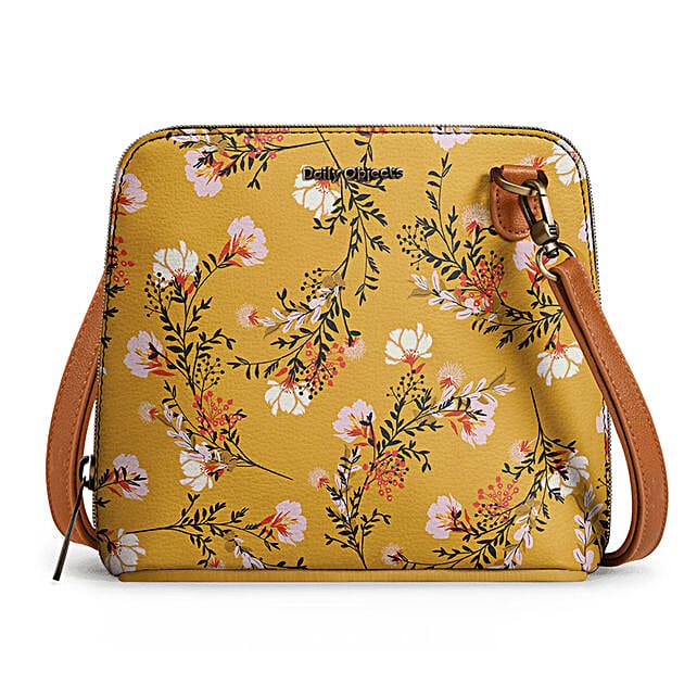 Online Mustard Flowers- Trapeze Crossbody Bag