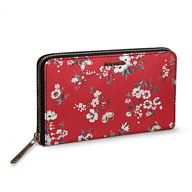 Online Red Buterflies Women's Classic Wallet