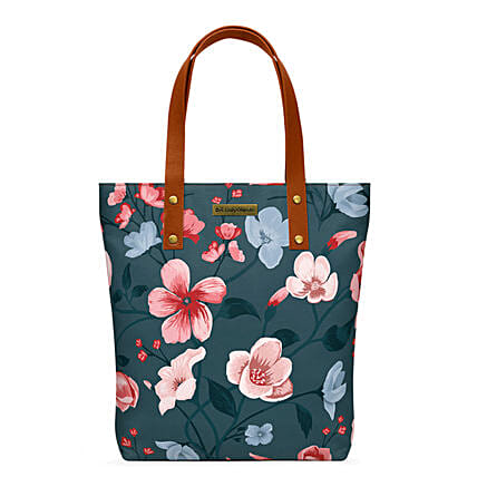 Online Teal Blooms Classic Tote Bag