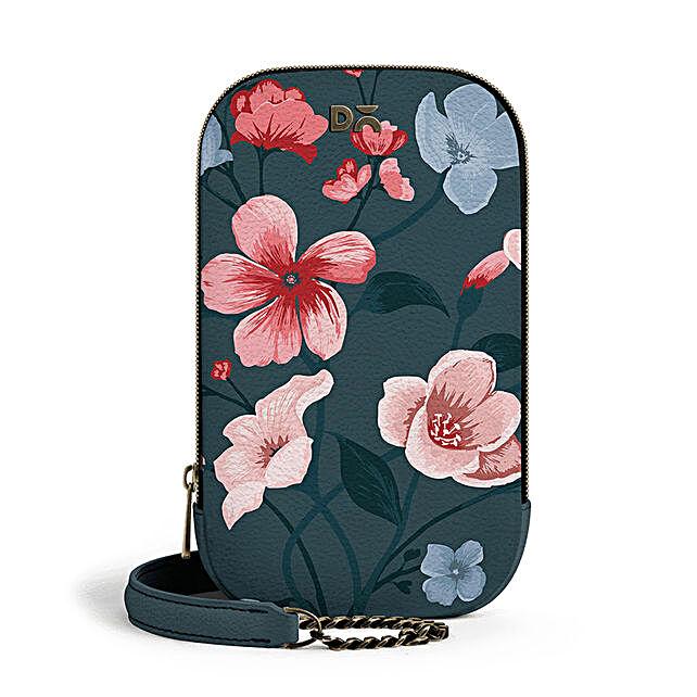 Online Teal Blooms- TallBoi Crossbody Bag