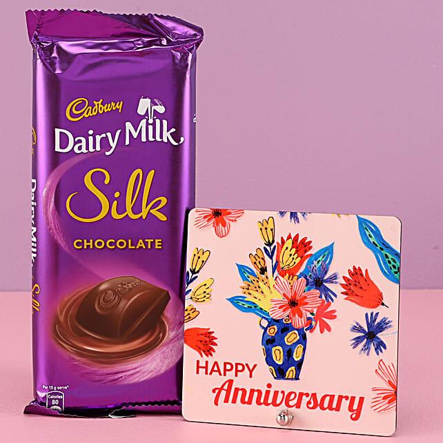 Dairy Milk Silk Chocolate with Anniversary Greetings