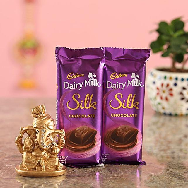 Dairy Milk Silk Golden Ganesha Idol