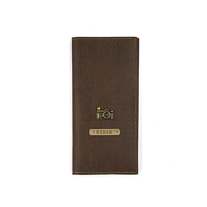 Stylish brown travel folder