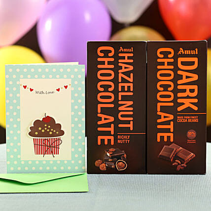 Online Dark Hazelnut Chocolates and Birthday Greetings