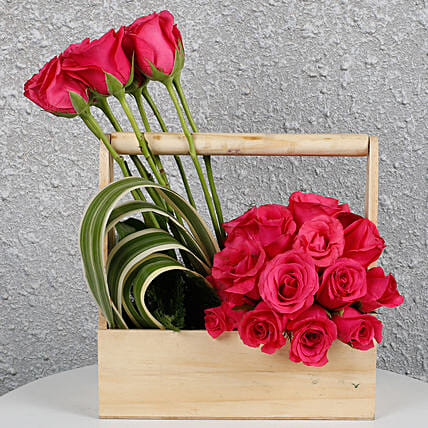 Flowers With wooden Base