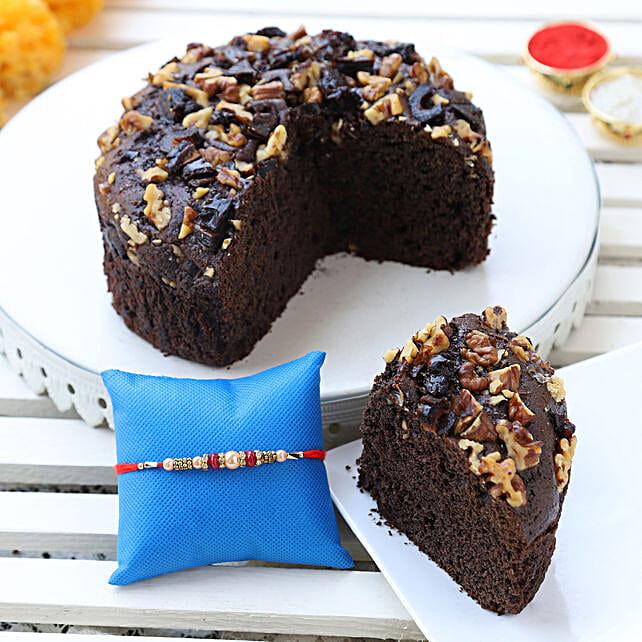 dates & walnuts dry cake & designer rakhi online:Cakes to Wokha