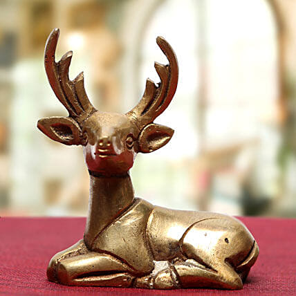 Deer Idol-Brass idol of deer