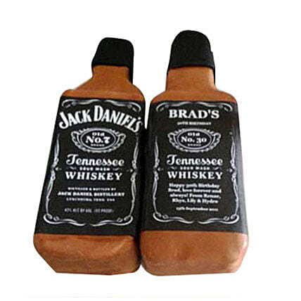 Delicious Jack Daniels Cake 2kg:Beer Bottle Shape Cake