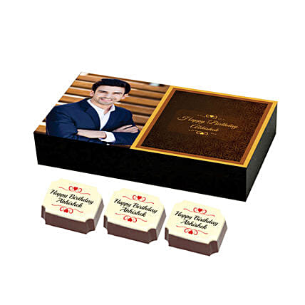 delicious personalised chocolates box online