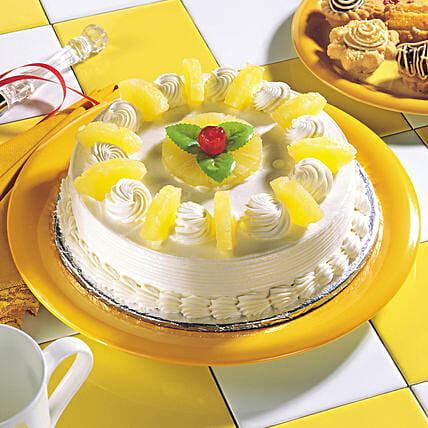 Delicious Pineapple Cream Cake:Send Pineapple Cakes for Valentine's Day