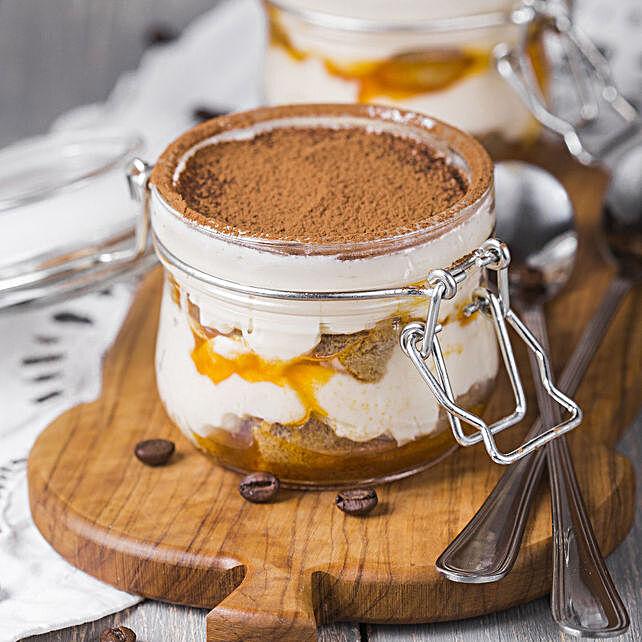 Online Tiramisu Cake in Jar:Jar Cakes