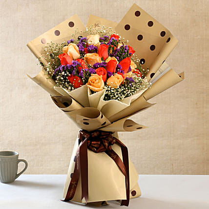 Delightful Mixed Flowers Bouquet