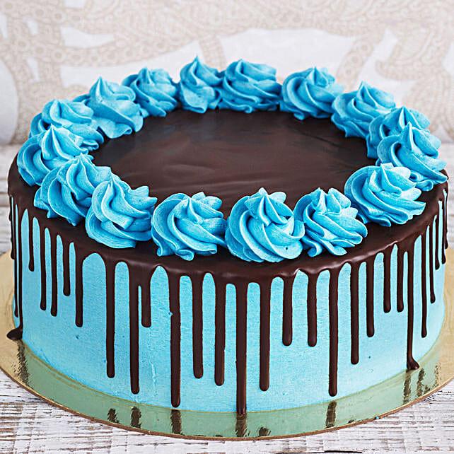 Blue Chocolate Cake Online:Send 21st Birthday Cakes