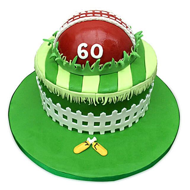 Designer Cricket Fever Cake 3kg Eggless Pineapple