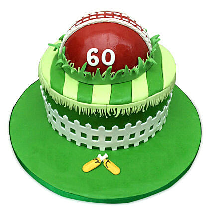 Designer Cricket Fever Cake 4kg Eggless Butterscotch