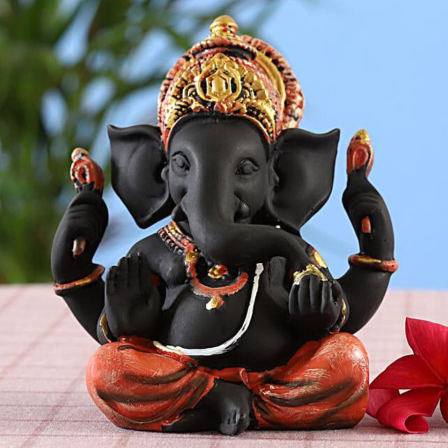 online Designer Matte Black Ganesha Idol
