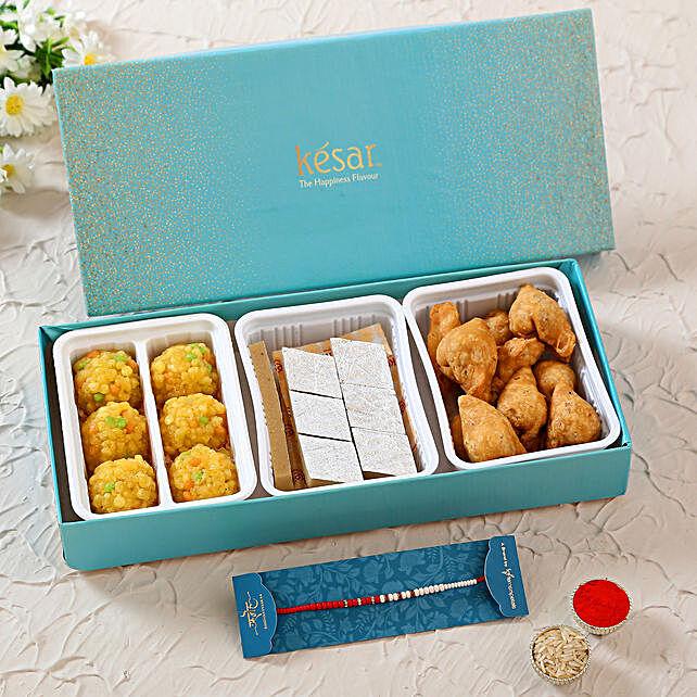 Designer Pearl Rakhi & Sweet Savoury Treats