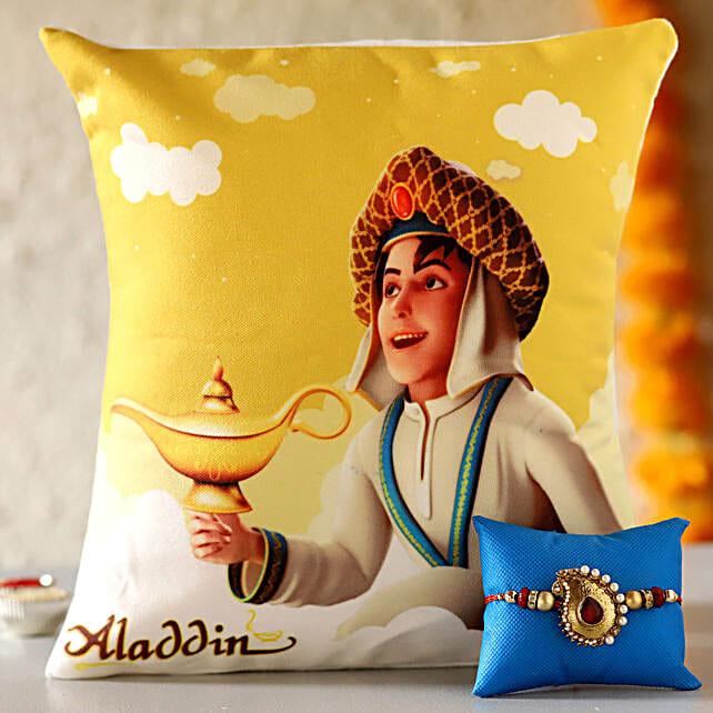 Aladdin Cushion with Rakhi For Kids