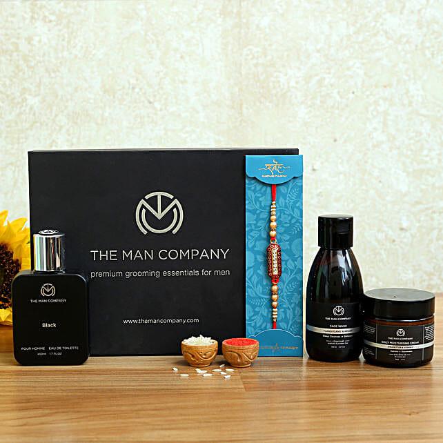 Designer Rakhi and The Man Company Companion Kit