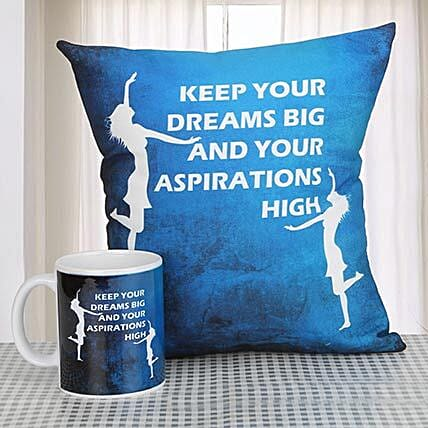 Printed Combo Gifts:Cushions and Mugs Combo