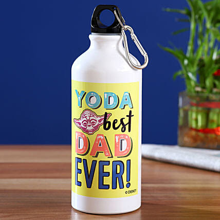 Disney Best Dad Ever Printed Bottle Hand Delivery:Fathers Day Gifts Mall