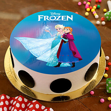 Disney Frozen Pineapple Photo Cake