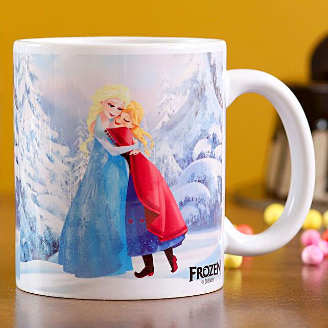 One White Printed Mug