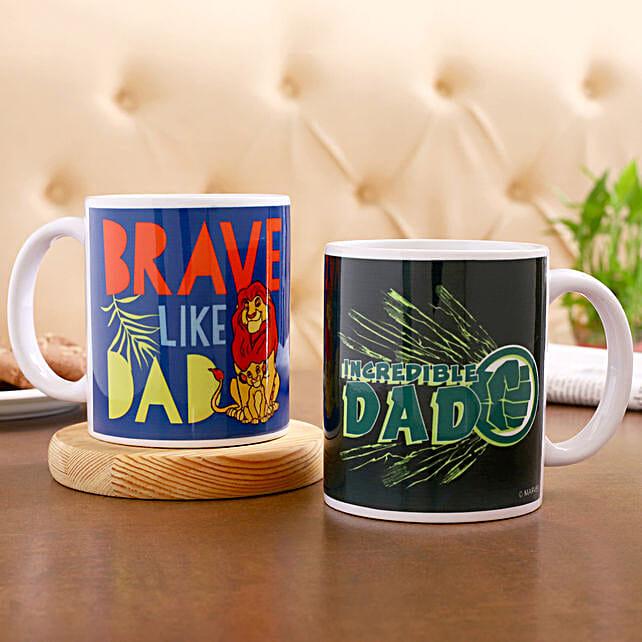 Disney Marvel Incredible Dad Mug Set Of 2 Hand Delivery