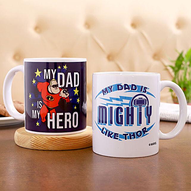 Disney Marvel Superhero Dad Mug Set Of 2:Disney Gifts