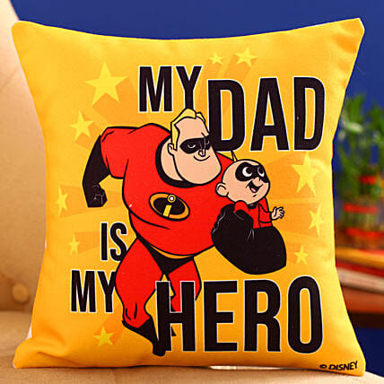 Disney My Dad Is My Hero Printed Cushion Hand Delivery