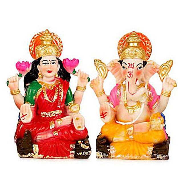 Divinity-Prosperity Lakshmi Ganesha 2 Inch each