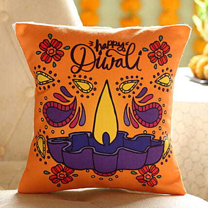 Diwali Diya Cushion Online