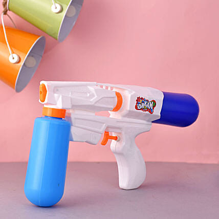 Dream Double Cartridge White And Blue Water Gun