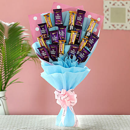 Blue Dairy Milk & 5 Star Bouquet