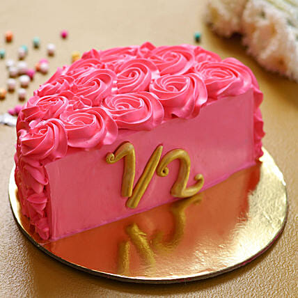 pink cake online:Half Cakes