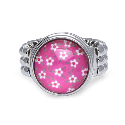 Pink finger ring