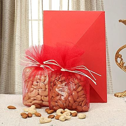 Greeting card with dry fruits