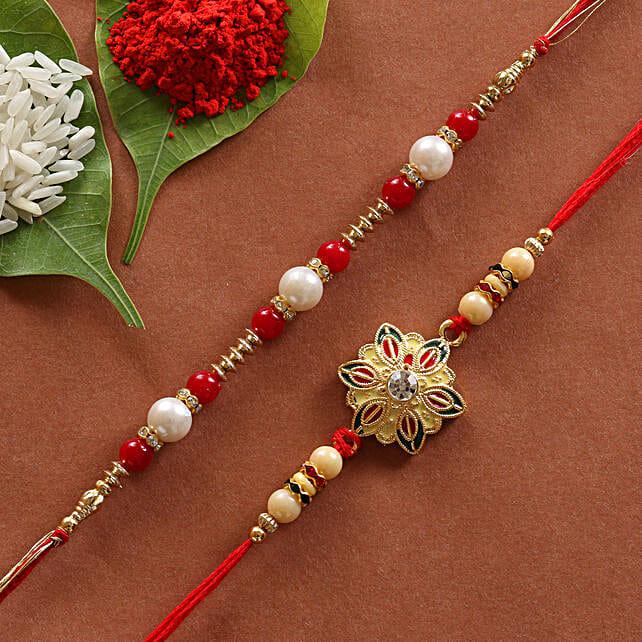 set of designer rakhi set for raksha bandhan:Set of 2 Rakhis