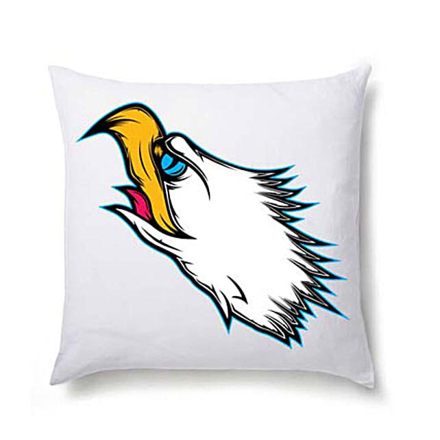 Eagle Vision Cushion- Baldhead Eagle head printed cushion 12x12 inches