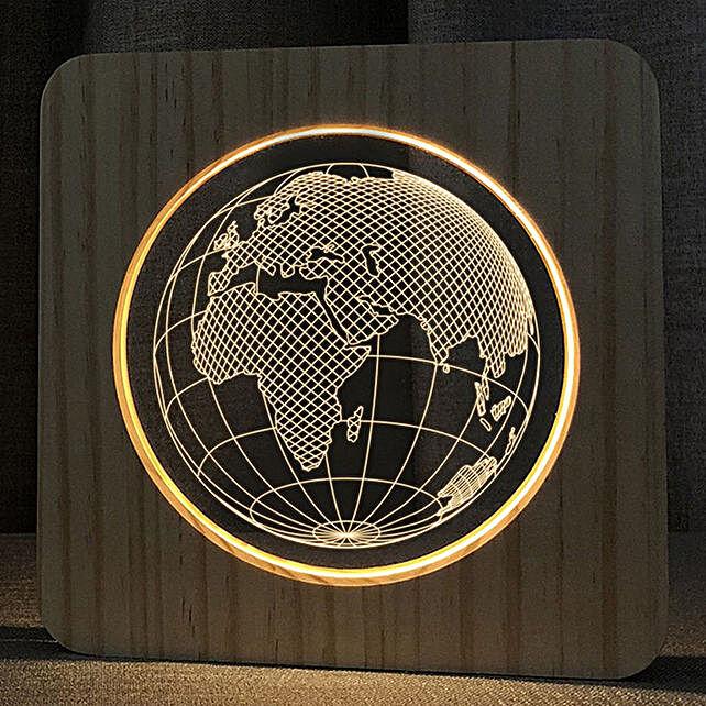 Online Wooden Earth Lamp:Unusual Lamps