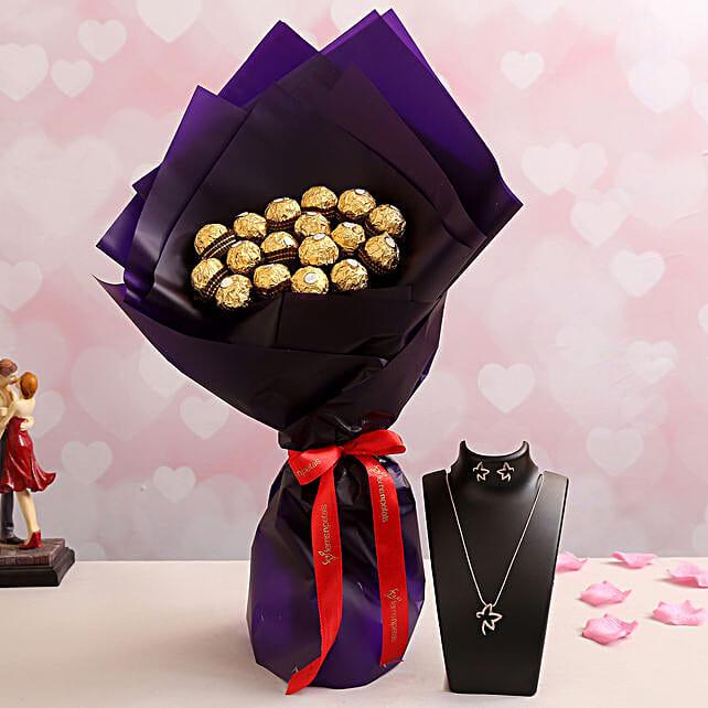 Amazing Ferrero Bouquet n Necklace