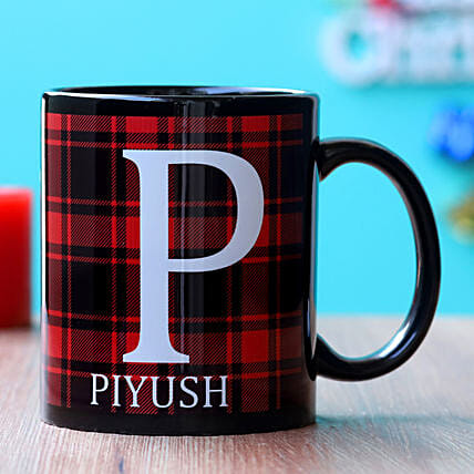Elegant Highland Personalised Mug Hand Delivery