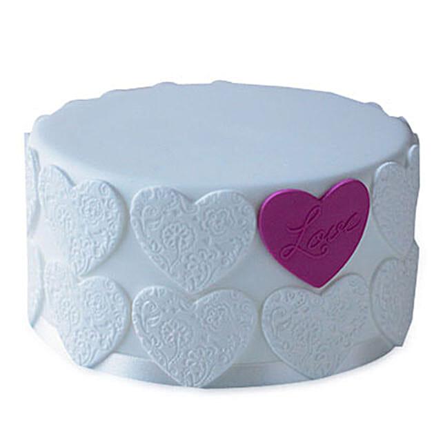 Elegant Love Cake 4kg Eggless Vanilla